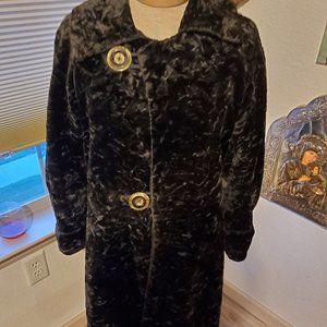vintage crushed velvet coat